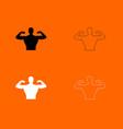 bodybuilder icon vector image