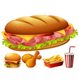 Different kind of food vector image