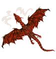 Lava dragon vector image