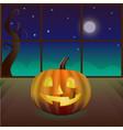 magic pumpkin in the room vector image