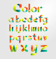 Ribbon alphabet colorful font vector image