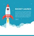 rocket launch copyspace vector image