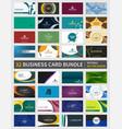 set of 32 creative business card bundle design vector image