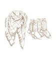 Sketch of warm clothes vector image