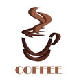 Steaming coffee cup volume symbol vector image