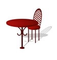 table and chair vector image