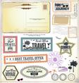 Travel design elements vector image