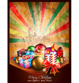 Merry Christmas vintage Background vector image vector image