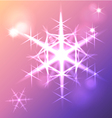 Shining snowflake christmas star vector