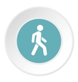 Man on pedestrian crossing icon flat style vector image