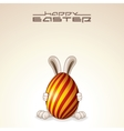 Easter Egg Bunny Design vector image