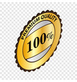 label premium quality isometric icon vector image