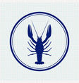 lobster hand drawn sketch icon vector image