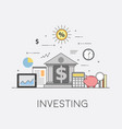 banking and business financial market secure vector image vector image
