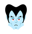 dracula sad emoji vampire sorrowful emotion face vector image