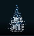 a merry christmas 2018 vector image