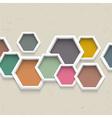 3d geometric background vector image
