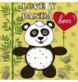 Cute Panda with heart vector image