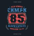 University sports emblem vector image