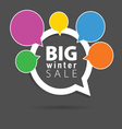 winter sale with speech bubble five color vector image