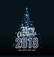 a merry christmas 2018 vector image