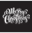 Black and White Christmas Card Merry Christmas vector image