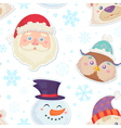 Cute Christmas seamless pattern vector image