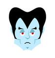 dracula sad emoji vampire sorrowful emotion face vector image