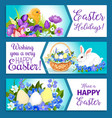 easter banners of pashcal greetings vector image