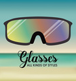 Glasses design vector image