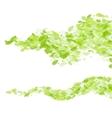 green leaf wave background vector image
