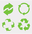 green recycle icon set vector image