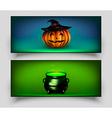 Halloween Card Set vector image