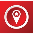 House pointer icon on red vector image