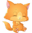 kitty princess with decorations vector image