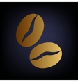 Koffe grains Golden style icon vector image