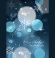 merry christmas and happy new year postcard vector image
