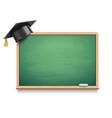 school board and graduation cap vector image