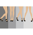 Set of advertisement concepts for stockings vector image