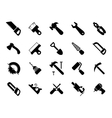 Set of black hand and power tools icons vector image