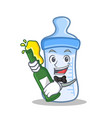 with beer baby bottle character cartoon vector image