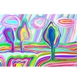 digital painting of summer landscape creative vector image