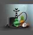 big green hookah vector image