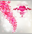 hearts fly on white background vector image