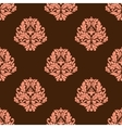 Baroque styled pink flowers in seamless pattern vector image vector image