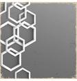 3d geometric grunge background vector image