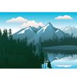 mountains landscape vector image vector image