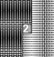 Halftone Style Black White Seamless Patterns Set vector image
