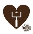 american football league design vector image