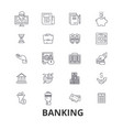 banking finance money banker piggy business vector image